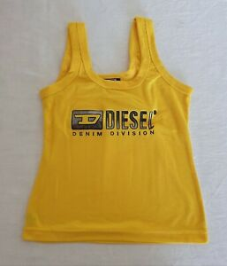 Diesel Size Small Yellow Tank Top