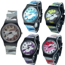 Camouflage Children Watch Quartz Analog Wristwatch Watches For Girls Boy Kids AU