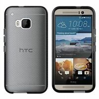 Tech21 HTC ONE M9 Evo Check Impact Shield Gel Rubber Shell Case Cover Black
