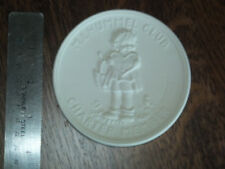 Goebel Hummel bisque disc plaque M. I. Hummel Club Charter Member 20 years T