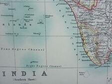 1910 Carte ~ Inde Sud Feuille Ceylan Mysore Madras Burma Assam