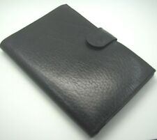 New VINTAGE BOND STREET Italy BLACK LEATHER Business Card HOLDER WALLET CASE [B