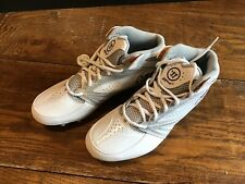 bc7ca3803 Men s Warrior Burn 2nd Degree Lax Lacrosse Cleats White Silver Size 11  WMSSM3WT