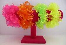 Bright neon - pastel coloured chiffon fabric hair scrunchie, 26 colour options!