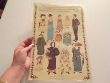 Kate Greenway Antique Embossed Cut out Paper Dolls
