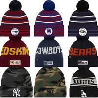 New Era Beanie Bobble Hat Yankees Dodgers MLB Team Assorted Styles
