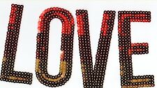 """Red to Yellow """"LOVE"""": Sequin Patch"""