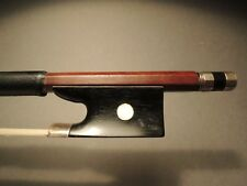 Old violin bow. Solid Silver mounted bow.
