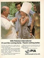 1981 Original Advertising' American Pia Pakistan International Airlines Girl