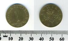 Austria 1972 - 1 Schilling Aluminum-Bronze Pre-Euro Coin  - Edelweiss flower