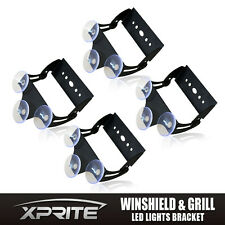 Xprite Strobe Traffic LED Lights Bar Winshield Bracket with 3 Suction Cups 4PCS