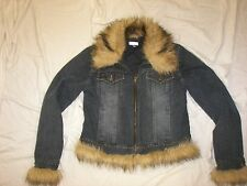 Giacca Gallery Company Denim Jacket with Faux Fur trim - M