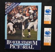SEPT 27 1986 PENN STATE LIONS vs EAST CAROLINA FOOTBALL PROGRAM + 2 TICKETS NICE