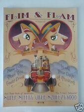 SDCC Comic Con 2014 Handout My Little Pony FLIM & FLAM poster MLP