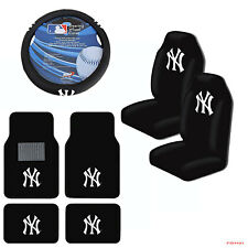 New MLB New York Yankees Car Truck Seat Covers Floor Mats Steering Wheel Cover