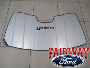 """15 thru 20 F-150 OEM Ford Sun Shade Screen with """"F-150"""" Logo and Storage Bag NEW"""