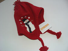 Gymboree Snow Chillin Boys Size 12-24 Months Knit Hat Red Snowman NEW