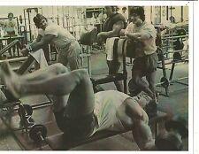 Arnold Schwarzenegger /Danny Padilla/Denny Gable Workout Bodybuilding Photo B&W