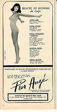PUBLICITE ADVERTISING 064  1971   PIER AUGE   beauté & jeunesse du corps