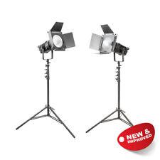 Bi-Colour Continuous LED Studio Light Twin Kit Lighting Photography 100W MKIII