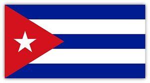 Cuba Flag Patriotic Sticker Decal Laptop Wall Car Truck Hard Hat Helmet