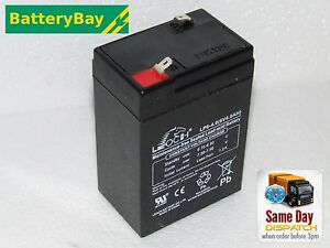 6V 4AH Replacement Battery for Peg Perego Toy Car