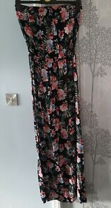 New Look Floral Strapless Maxi Dress Size 12 tall