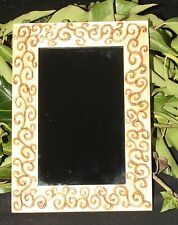 Spiral Framed Black Scrying Mirror - Wicca, Pagan, Witchcraft, Dark Moon Magic
