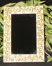 Spiral Framed Black Scrying Mirror - Wicca, Pagan, Witchcraft, Dark Moon Magic