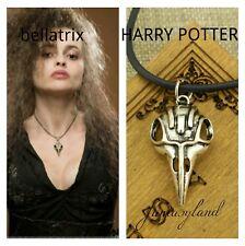 teschio di corvo ciondolo collana bellatrix lastrenge serpeverde harry potter