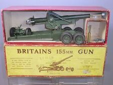 VINTAGE BRITAINS MODEL No.2064  155mm  HOWITZER GUN  ( Ist  ISSUE )  VN MIB