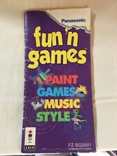 Panasonic 3do Fun N Games Paint Games Music Style Manual ONLY