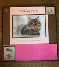 Kitty, personalized framed decor,  loss of cat, new,12x12 inch w/ your photo
