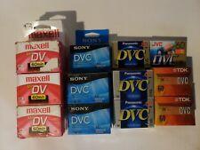 Lot of 30 Mixed DVC 60 Mini DV Digital Video Cassette Tapes TDK Sony Panasonic