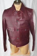AUTH $4195 Burberry London Men Leather Jacket 54/44/XL