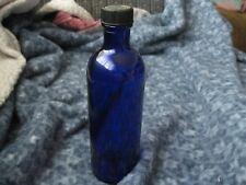 """Vintage Cobalt Blue Bottle With Lid 6.5"""""""