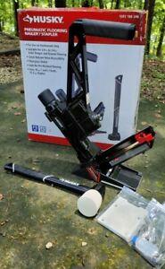 Husky 3-in-1 Pneumatic 15.5 & 16-Gauge 2 in. Flooring Nailer/Stapler Nail Gun