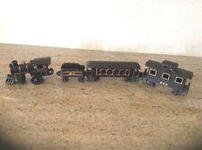 VINTAGE! CAST IRON FLOOR TRAIN SET- ENGINE, PULLMAN, CABOOSE, COAL TENDER