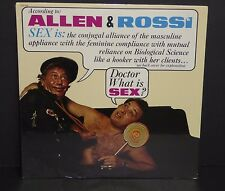 Allen and Rossi SEALED vinyl LP record SEX Is Doctor What Is Sex Comedy  &