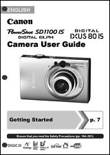 Canon Powershot SD1100 IS IXUS 80 IS  Digital Camera User Guide Manual