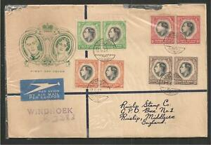 20 - Sc. 125-28 Pairs on Airmail FDC 1937