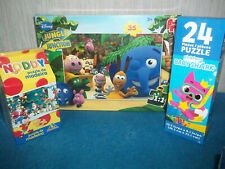 BABY SHARK, JUNGLE JUNCTION, NODDY - 3 x 24, 30+ PCE JIGSAW PUZZLES, NEW BUNDLE