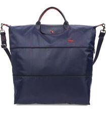 Longchamp NAVY BLUE Le Pliage Club XXL Expandable Travel Bag Shoulder Strap