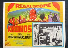 """KRONOS"" JEFF MORROW BARBARA LAWRENCE  JOHN EMERY N MINT LOBBY CARD SET 1957"