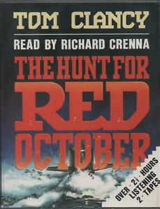 THE HUNT FOR RED OCTOBER by Tom Clancy ~ Two-Cassette Audiobook