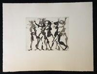 Armin Sandig, Mäandernde Mänaden, Radierung, 1981, handsigniert und datiert
