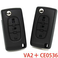 VA2 CE0536 3 Button Car Remote Key Shell Cover For Peugeot 307 308 3008 5008