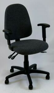 Albion Chairs Uni17SKA high back office/task chairs in graphite grey: ex-demo