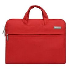 "Laptop Macbook Case 13"" in Red Protective Carry Case lots of Storage"