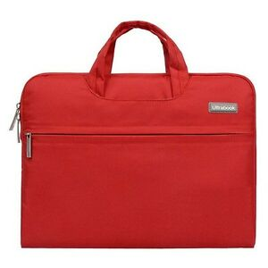 """13"""" Laptop Case Red Protective Carry case lots of Storage"""